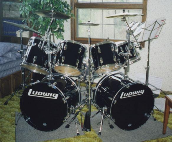 ludwig rocker drumset. Black Bedroom Furniture Sets. Home Design Ideas