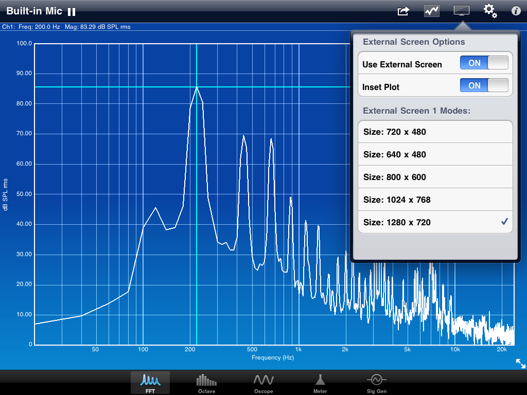 SignalScope Pro 2 iPad Screenshot