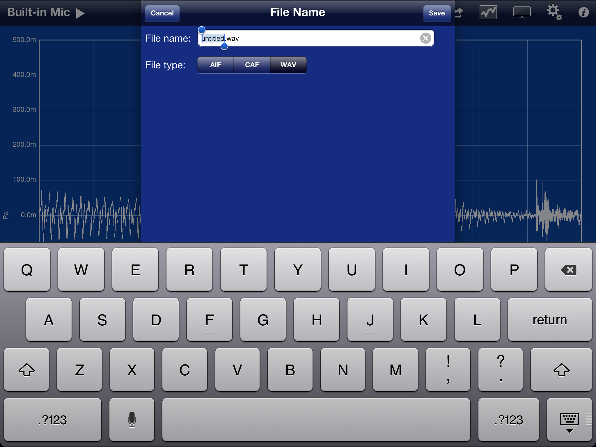SignalScope Pro Audio File Name