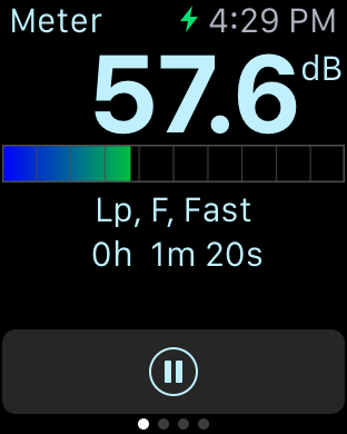 SoundMeter Pro Screen Shot - Apple Watch